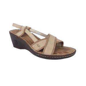 UGG Mayley Leather Double Strap Slingback Sandals
